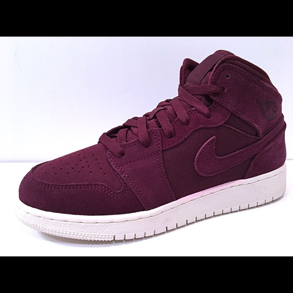 Jordan Other - Jordan 1 Mid BG Bordeaux Sail Kids Womens New fac84f8f33